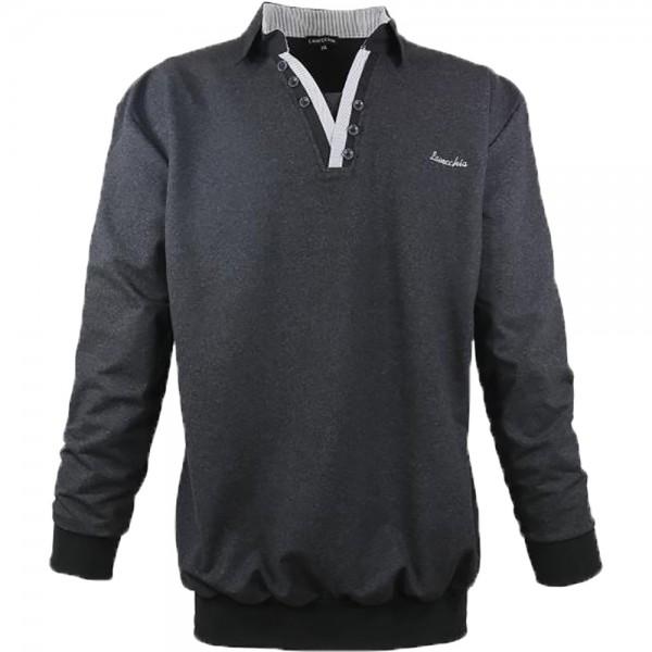 Leichtes Sweatshirt aus Jersey für Übergrößen mit Polokragen