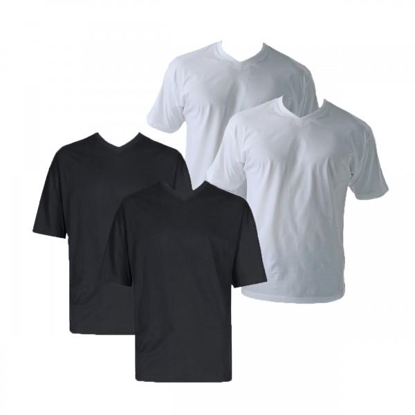 Übergrößen V-Ausschnitt Shirt Doppelpack