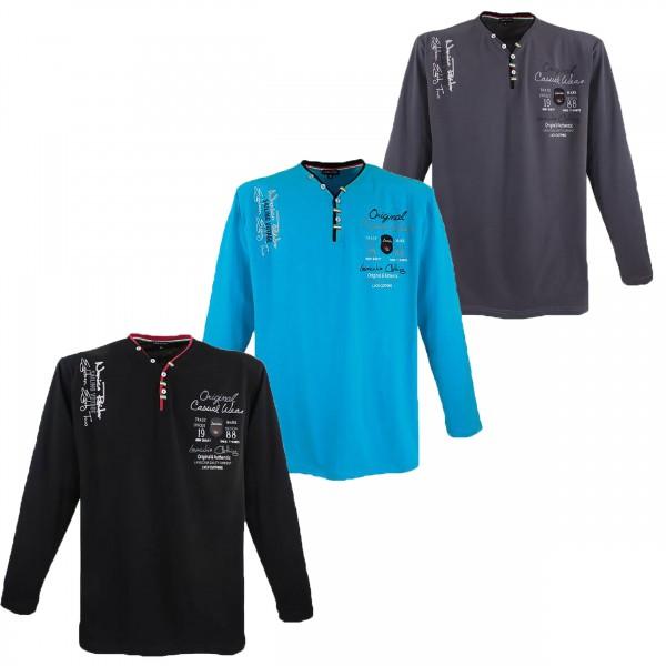 Übergrößen Longsleeve Shirt Lavecchia