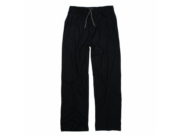Bequeme Schlafanzughose m. Gummibund und Kordel, schwarz
