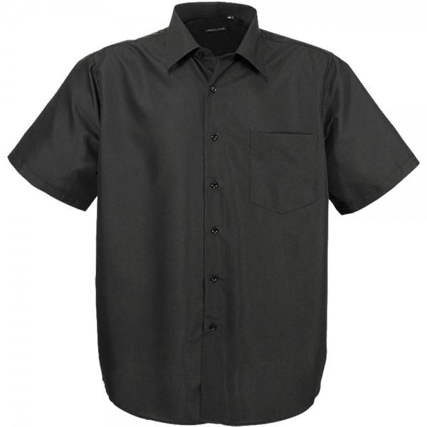 Schwarzes Kurzarmhemd für Übergrößen