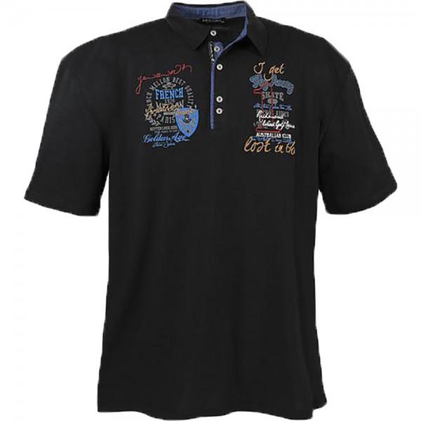 Lavecchia Polo-Shirt, schwarz