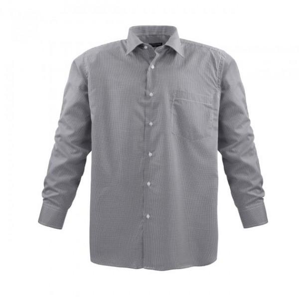 Herrenhemd in kleinem Karo - dunkel-hell kariert - dark-white
