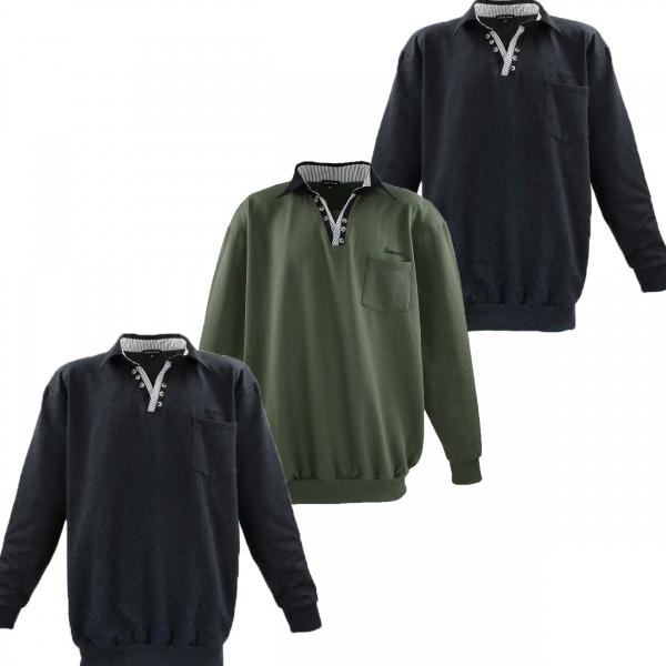Übergrössen Sweatshirt mit Polokragen