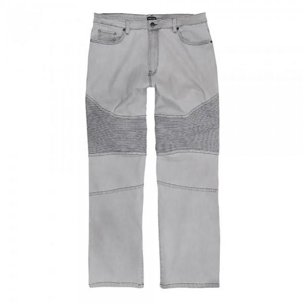 Jeans mit Elasthan - silbergrau