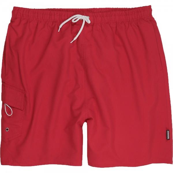 Rote Bermuda mit seitlicher Tasche