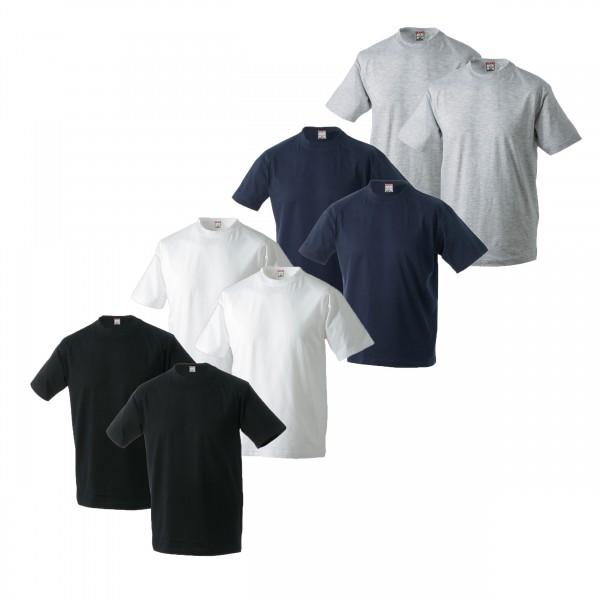 Doppelpack Shirt in Übergröße