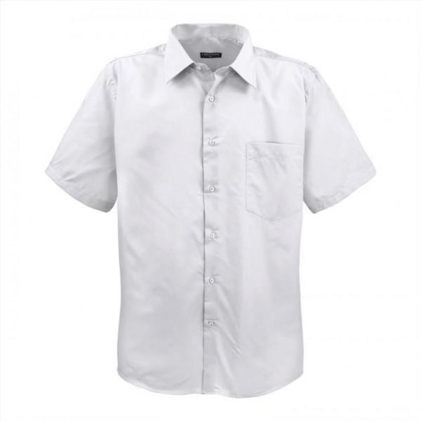 Übergrößen Herrenhemd, halbarm, weiß