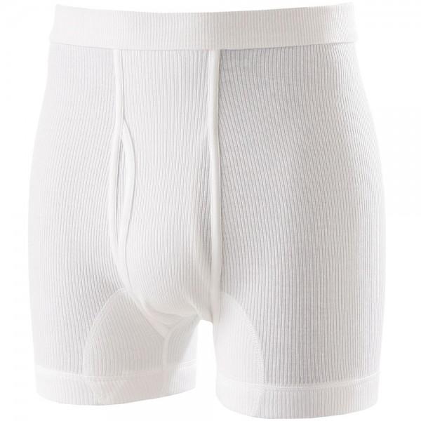 Kurze Unterhose in weiß, Doppelripp