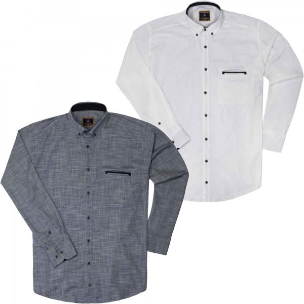 Langarmhemd von Lavecchia bis 7XL