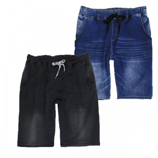Übergrössen Bermuda, Jeans, Gummibund