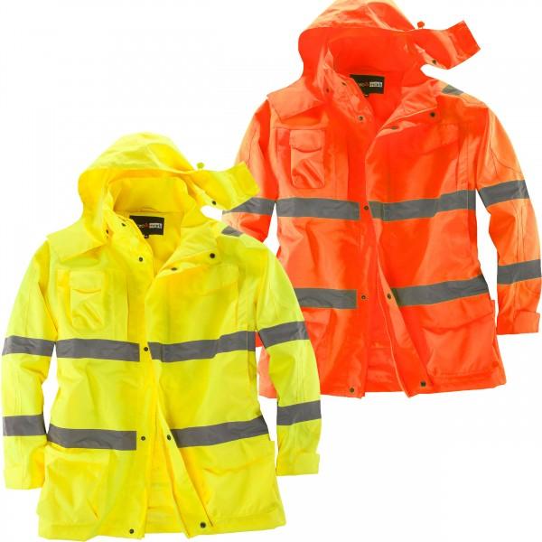 Übergrößen Warnschutz-Regenjacke