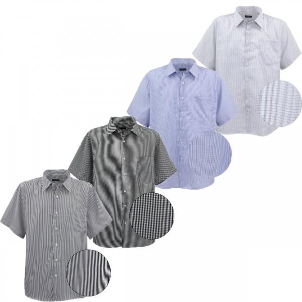 Übergrößen Kurzarm Hemd, versch. Design